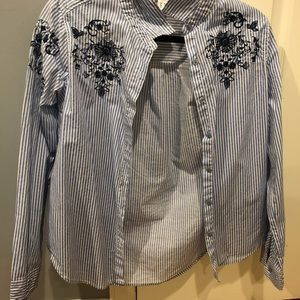 Tops - Strips shirt with flowers